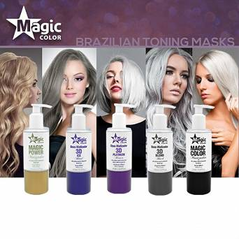 MAGIC COLOR BLACK MASK MASKA TONUJĄCA 150 ML